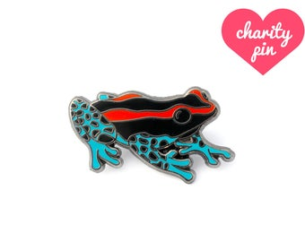 Poison Dart Frog Pin (frog enamel pin amphibian lapel pin badge jewelry cute frog jewelry endangered conservation cloisonne backpack pins)