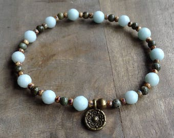Bohemian bracelet boho chic bracelet gypsy womens jewelry boho bracelet gemstone bracelet gift for her boho chic jewelry hippie bracelet