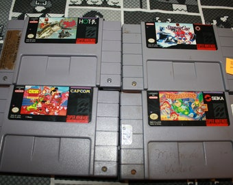 Super Nintendo Game - Donkey Kong Country - Troddlers - Stanley Cup - Super Black Bass - Great Circus Mystery - SNES Game