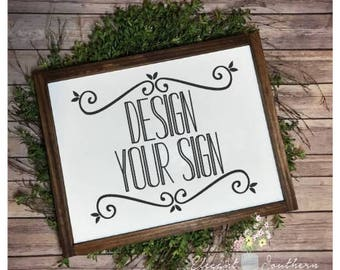 Create your own sign etsy for Design your own house sign