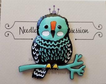 Aqua Owl Needle Minder