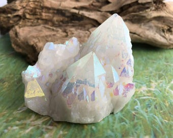 Rare Large Angel Aura Quartz Cluster,