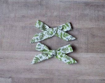 Pattern Pigtail Sets - Cotton Bows - Baby Pigtail Bows - Pigtail Cotton Bows