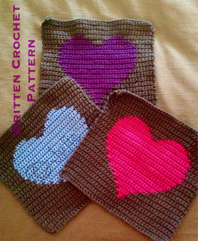 Crochet heart blocksquare afghan heart written pattern zoom bankloansurffo Choice Image