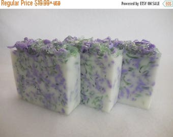 On Sale Lavender Sage SOAP LOAF - Lavender Soap - Sage Soap - Rustic Wedding Favor - Baby Shower Party Favor - Goats Milk Soap - Unisex Bulk