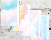 Planner Dividers - Pastel Rainbow Scalloped Dividers - Planner Accessory - Pocket, Field Notes, Personal, B6 Slim, Standard, A5