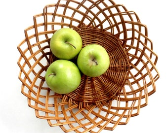 Wicker Basket Bowl, Fruit Basket