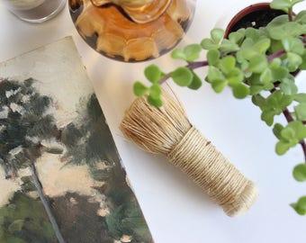 Natural Straw Mushroom Brush, Small Veggie Brush, Vintage Decor