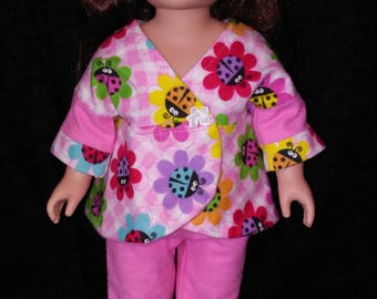 "18"" doll clothes. Pajamas. PJs. Doll Pajamas. Pajama Party."