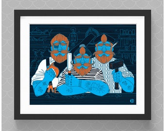 Boatbuilding Brothers Three