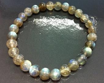 Labradorite 6 mm beaded bracelet