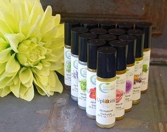All-Natural Essential Oil Roll-On Perfumes (13 Varieties)