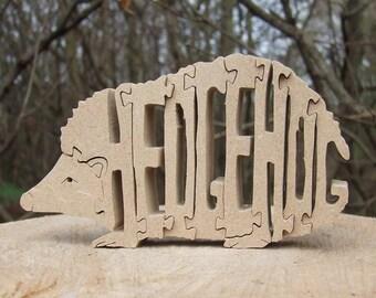Hedgehog, Hedgehog jigsaw, Hedgehog ornament, Hedgehog puzzle, wooden Hedgehog, Hedgehog gift, garden animal,  wooden animal