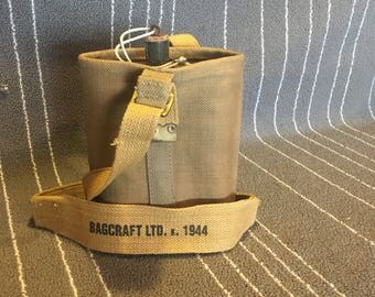 1944 Metal Flask with Canvas Carrying Case