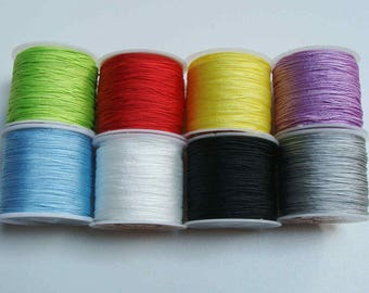 300 m fil nylon tressé en lot 9 bobines mix couleurs aléatoires cordon bijoux loisirs