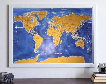 Scratch map  Etsy