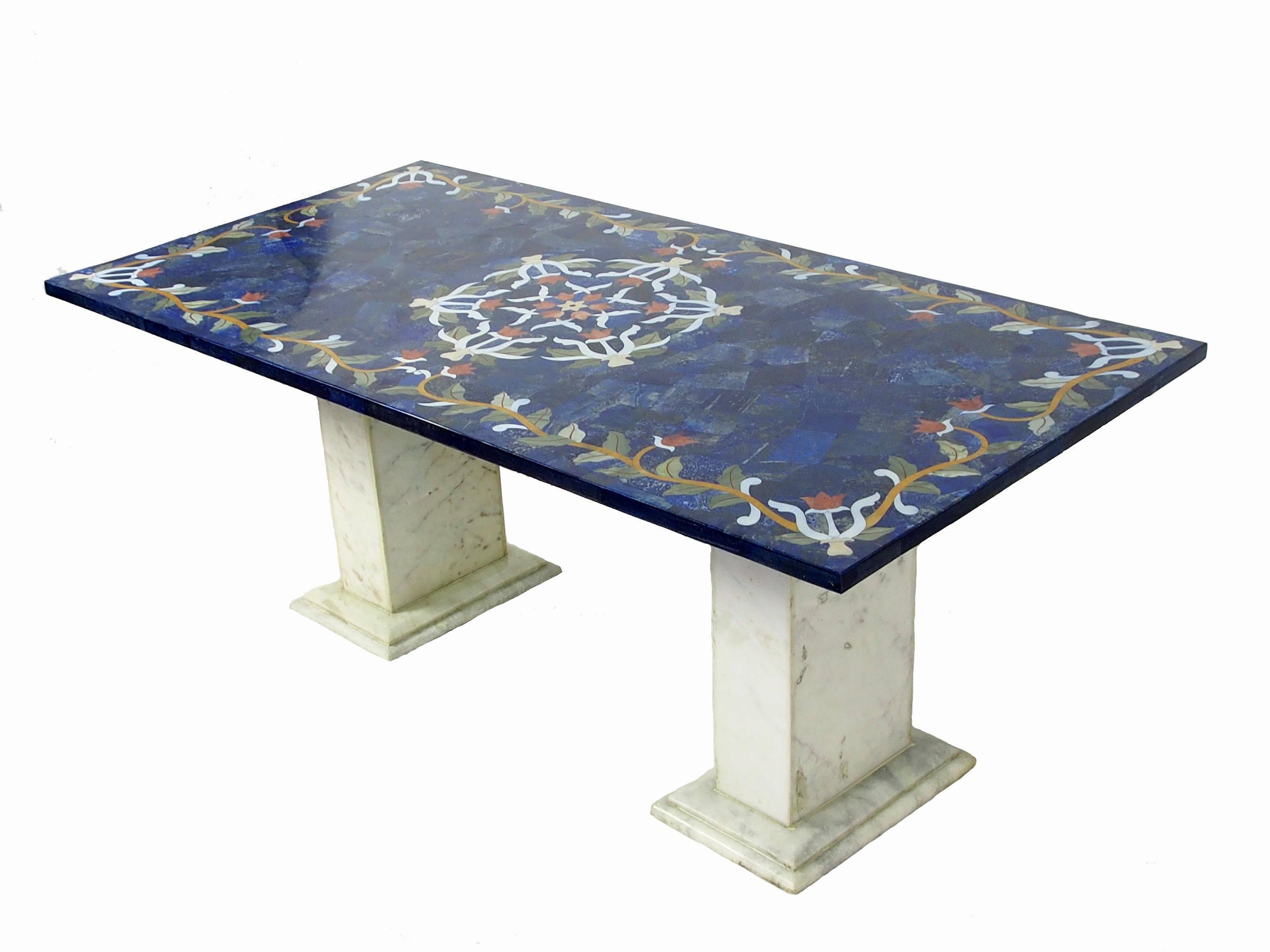 120x60 cm pietra dura marble Lapis Lazuli coffee table table