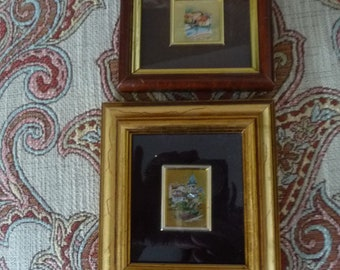 A pair of Vintage  Italian  Chromolithographs