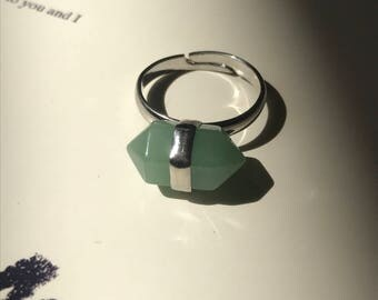 Green Aventurine Stone Ring