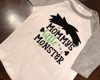 Toddler halloween t-shirt mommys little monster, halloween gift, halloween costume