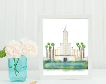 Printable, Los Angeles Temple, Los Angeles LDS Temple, LA Temple, LA Temple Print, Los Angeles Temple Printable, Los Angeles Temple Poster