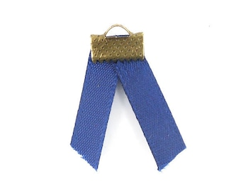 x2m 5mm (47 (A) Navy blue satin ribbon
