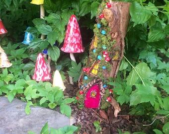 Tall Wooden Fairy House ~ Fairy Garden ~ Fairies ~