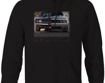 American Muscle Dodge Challenger Modern & Classic Mopar Hooded Sweatshirt- 5441