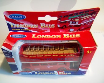 Welly Double Decker Open Top Die Cast London Bus, No. 99930C-W