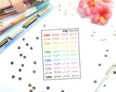 Mamas Minis - Typography Plan | Planner Stickers | Perfect for any planner | Travelers Notebooks