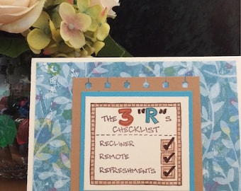 SALE!!  Retirement Card with Checklist