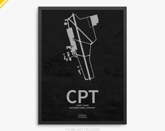CPT Airport, Cape Town International Airport, Cape Town South Africa, CPT Airport Poster, Cape Town Airport, Cape Town Airport Poster