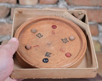 Roulette Old Game - Children's Abacus - Vintage Toy Whirligig - Game Roulette - Old Toy Entertaining - Old Indoor Game - Educational Game