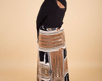 70s surrealist long skirt