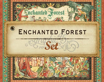 "Graphic 45  ""Enchanted Forest"" 8 single sheets"