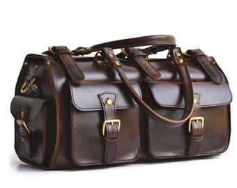 Awesome Leather Duffle Bag Leather Gym Bag Leather Travel Bag Leather Luggage Leather Weekender Bag Leather Overnight Bag for Men For Women