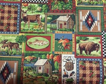 Country Cotton Fabric by the Yard