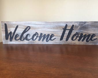 Welcome Home Wooden Sign