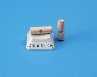 Wooden Toggle, 14mm long x 4mm dia, one hole, for necklace cord, bag of 100