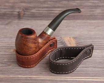 Genuine Leather Pipe stand. Pipe holder.