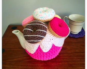 Doughnut Tea Cosy - Donut Tea Cosy - 4 Cup Teapot - Tea Lover Gift - Kitchen Gift - Hostess Gift