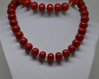 Vintage Red Color Beaded Necklace