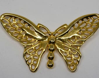 Lovely gold tone butterfly brooch
