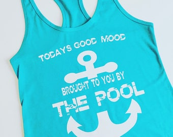 Todays good mood brought to you by the pool summer tank top