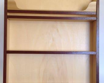 porte pices mural en bois de pin et bois flott. Black Bedroom Furniture Sets. Home Design Ideas
