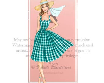 Summer Green SPECIAL PRICE! -20% Fashion illustration Phone case