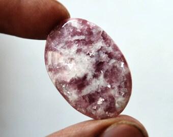 Lepidolite Gemstone Cabochon 20 Cts Natural Designer Lepidolite Oval Shape 29x20x4 MM R14310