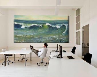 Oil Painting Canvas, Ocean Art Modern Painting, Large painting, Ocean Painting, Ocean Wall Art Large Canvas Painting, Modern Oil Painting