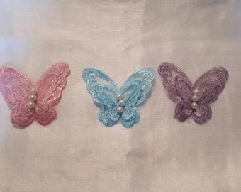 jewelry for bridal skin lace double Parma violet butterfly, light pink evening wedding parties temporary tattoo
