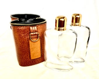 Vintage. Flasks. MCM. Whiskey. Bourbon. Gin. Vodka. Gift. Beach. Picnic. Concert. Tailgate. Sports